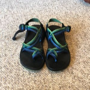 Chaco blue green ZX/2 strappy H20 Trail Sandals 8